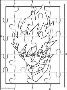 Printable jigsaw puzzles to cut out for kids Dragon Ball Z 33