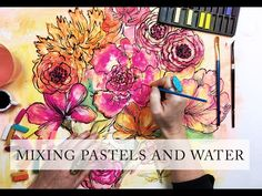 Chalk pastels alone are a really fun supply but when you mix pastels with water you are able to use them in a totally different way! Chalk Pastel Art, Chalk Pastels, Soft Pastels, Pastel Drawing, Preschool Art, Art Techniques, Watercolor Techniques, Art Club, Watercolor Art