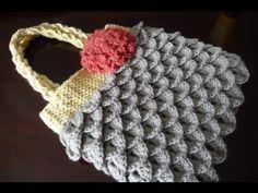 Crochet Mermaid, crocodile stitch purse, bag YouTube complete tutorial by Mikey MIKEYSSMAIL - CROCHET GURU. Very good and easy to follow!