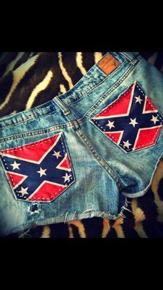 Rebel Flag Upcycled American Eagle Patriotic Shorts
