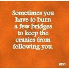 Don't let the crazies follow...