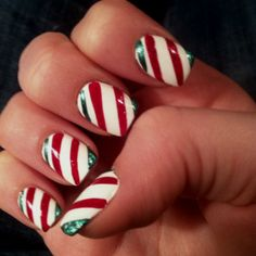 holiday fingernail designs | Christmas nail designs | Fay