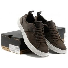 Converse Shoes Brown Chuck Taylor City Stars Mens/Womens Canvas & Leather Sneakers Lo Tops