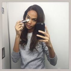 From behind-the-scenes shots at photo shoots with a few supermodel friends to bathroom-mirror selfies, Joan Smalls has mastered and even created a few selfie types.