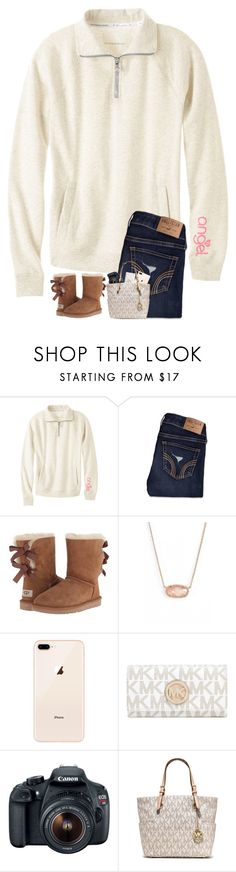 """The time is always right to do what is right."" by jessicasmith17 ❤ liked on Polyvore featuring Victoria's Secret, Hollister Co., UGG Australia, Kendra Scott, Michael Kors, Eos and MICHAEL Michael Kors"