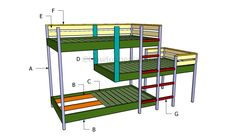 plans to build a loft bed | Building a triple bunk bed