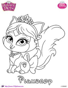 Princess Palace Pets Coloring Page of Plumdrop | SKGaleana