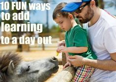{10 Fun Ways to Add Learning to A Day Out} This post include ideas to enhance a day out with the kids. A trip to the zoo, a museum or the beach is always a big adventure for any child. Wouldn't it be great if we could make the fun and adventure last more than one day and add some fun ways to learn from the experience as well? Here's ten ideas to do just that!