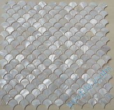 Fish Scale Shaped Natural Mother Of Pearl Mosaic Tiles