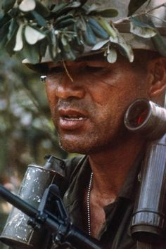 """Exhaustion is enemy of enemies for the infantryman. The face of this US soldier in Vietnam tells the eternal story of fatigue and oftentimes fear at what lies ahead. And in the thick jungles of Vietnam """"what lies ahead"""" always had a potentially lethal outcome. THANK YOU FOR YOUR SERVICE SOLDIER!"""