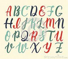 Manuscrit latin tiré par la main de brosse de calligraphie des majuscules dans…