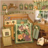 NoJo Jungle Babies bedding set is a neutral baby bedding set. If you want to get your kid familiar with jungle animals, this crib set will appeal you