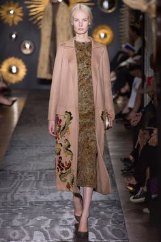That coat!  I could so do the embroidery.  Hmmmm.  Take out the lining of current coat?  Wish there was a detail.  Valentino Fall 2013 Couture Collection Slideshow on Style.com