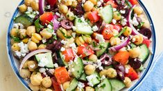 Mediterranean Chickpea Salad horizontal