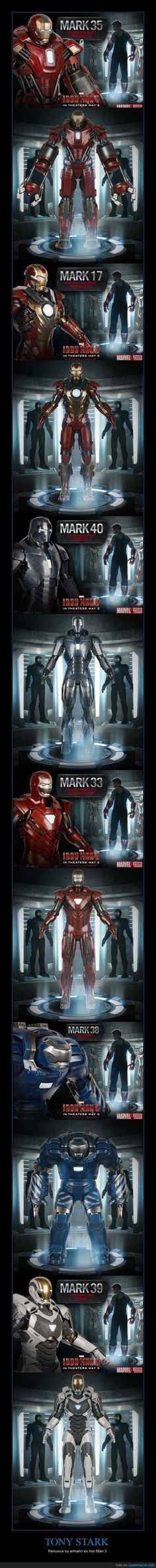 Iron Man Movie Armors Infographics