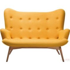 Sofa - Angels Wings Yellow 2-Seater - Kare Design