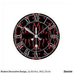 Modern Decorative Designer#3 Wall Clock Buy Online https://www.zazzle.com/kitchen_wall_clocks/products?rf=238136051362953437