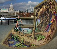 """""""Rainforest on the Thames"""" by Kurt Wenner"""