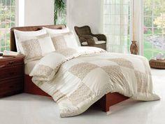 Pościel satynowa Valentini Bianco Limited Edition MODA KREM, 160x200 + 2x 70x80 cm oraz 220x200 + 2x70x80 cm, 100% bawełna.