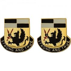 U.S. Army Special Troops Battalion, 4th Brigade Combat Team, 4th Infantry Division Unit Crest (Strong and True)