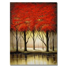 Rio 'Serenade in Red' Canvas Art