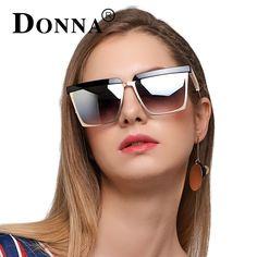 DONNA Square Oversized Sunglasses Women HD HD Polaroid Lens Sun Glasses New Fashion Sunglasses 2017 Vintage Brand Designer D79 #Affiliate