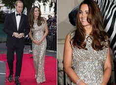 duchess of cambridge clothing | Catherine, Duchess of Cambridge in Jenny Packham | Tusk Conservation ...