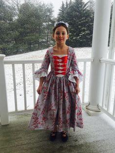 Custom Girls Colonial Dress sizes 10-14