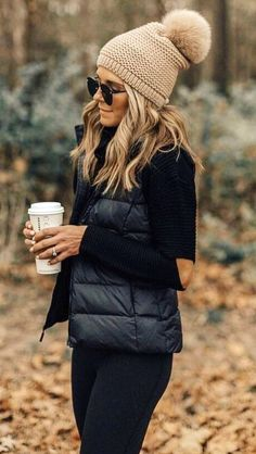 #winter #outfits black bubble jacket #winterclothingwoment