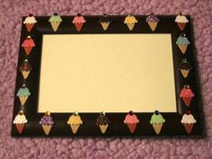 WE ALL SCREAM for ice cream picture frame - pinned by pin4etsy.com
