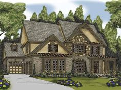 Eplans Traditional House Plan - Five Bedroom Traditional - 3207 Square Feet and 5 Bedrooms(s) from Eplans - House Plan Code HWEPL62888