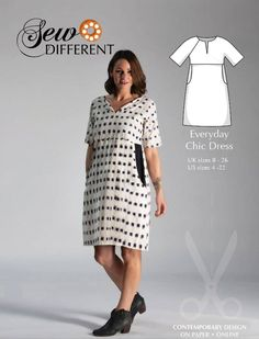 Tunic Dress Patterns, Clothing Patterns, Sew Your Own Clothes, Sewing Clothes, Womens Denim Dress, Dressmaking Fabric, Everyday Dresses, Light Denim, Chic Dress