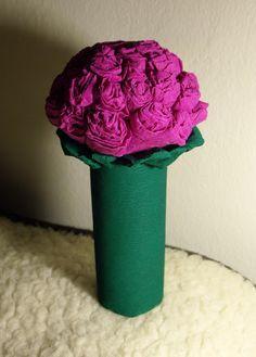 krepp papír rózsa | Házi Manó