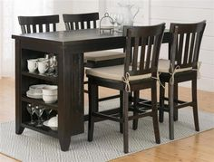 Prospect Creek Casual Wood Reclaimed Pine 5pc Counter Height Bar Set