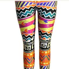 Geometric aztec tribal leggings for everyday style