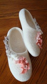 Slippers felted & comfy.