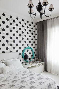 Blog de decoração Perfeita Ordem: Bolinhas na parede ... Perfeitas para quem gosta de brincar de decorar!