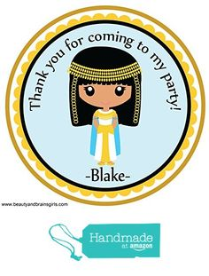 Egyptian Themed Party Custom Personalized Stickers Birthday Party Favors - Treat Tag Toppers- 24 Stickers Popular Size 2.5 Inches. Peel and Stick Backing from Custom Party Favors, Handmade Craft , and Educational Products http://www.amazon.com/dp/B01EPCCFS8/ref=hnd_sw_r_pi_dp_t8jhxb09VAZGY #handmadeatamazon
