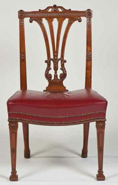 Beautifully carved Chippendale chairs at Harewood.