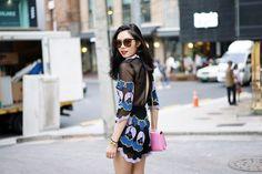 FIRST IMPRESSION OF SEOUL - Olivia Lazuardy. Dress by Alice McCall