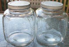 2 Vintage Antique Unmarked Coffee Jars with Lids | eBay