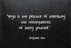 the consequences of being myself
