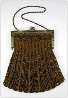 Vintage Purse - Art Deco 1920s - Iridescent Beads