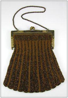 Vintage Purse - Art Deco 1920s - Iridescent Beads
