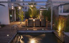 osvětlení malé soukromé zahrady / lighting small private garden Patio, Garden, Outdoor Decor, Mounting Brackets, Design, Home Decor, Garten, Decoration Home, Room Decor