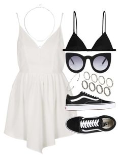 """""""outfit for summer with a white playsuit"""" by ferned on Polyvore featuring Topshop and ASOS"""