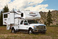 The Lance 1062, double-slide, dry bath truck camper: http://www.truckcampermagazine.com/news/tcm-exclusive-2016-lance-1062