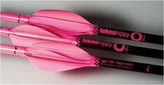 Pink archery arrows