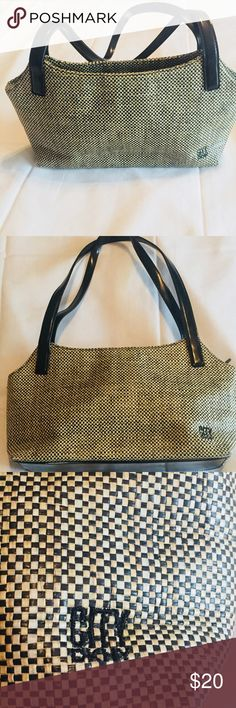 "Dkny City Brown Woven Purse Shoulder Bag Dkny City Brown Woven Purse  Shoulder Bag Measurements Length 12"" Strap drop 9"" Width 3"" Dkny Bags Shoulder Bags"