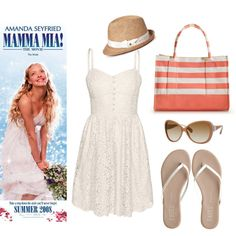 Mamma Mia - Summer Style. Show your love for summer in a Mamma Mia film inspired ensemble! A Grecian style with a beachy vibe. Created by hollywoodplayer on Polyvore.